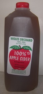 Wolfe Orchards Apple Cider