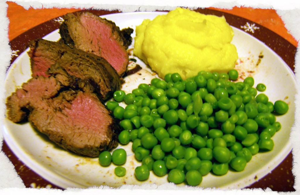 Beef Tenderloin Roast Meal1 1024x667 Healthy: Center Cut Tenderloin Roast, Asparagus au Gratin