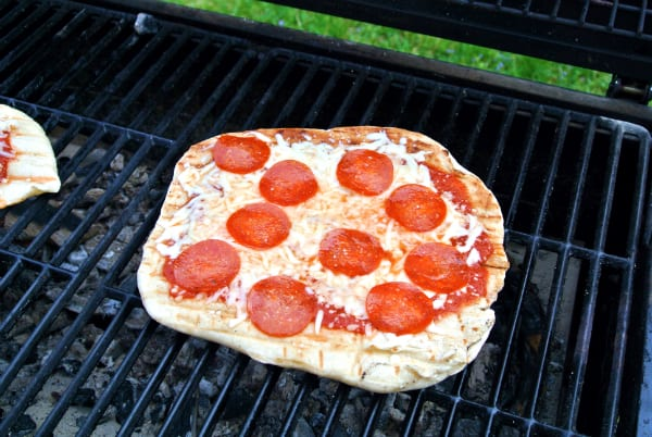 Grilled Pepperoni Pizza