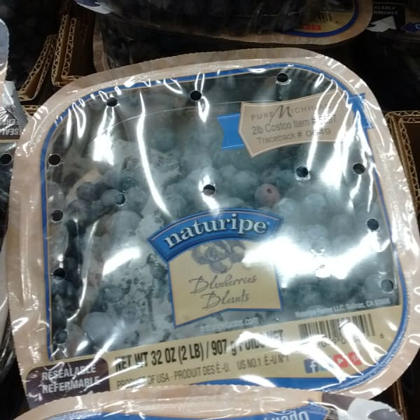 Michigan grown blueberries available at Costco