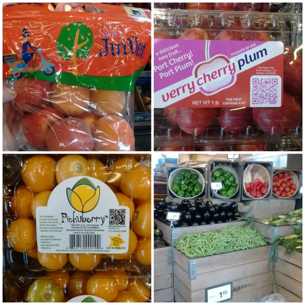 A collage of some of the produce selection on the day of my visit.