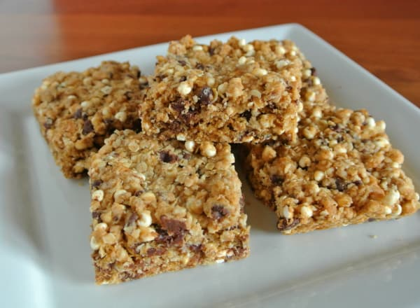 Tahini Chocolate Chip Granola Bars