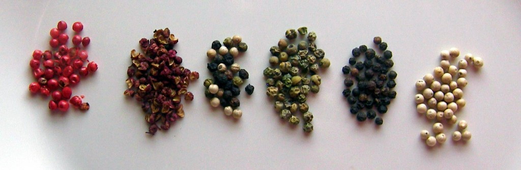 What is the Differences in Types of Peppercorns