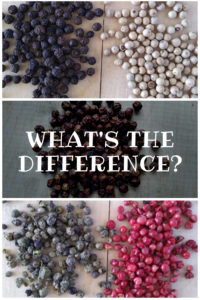 What is the difference between peppercorns