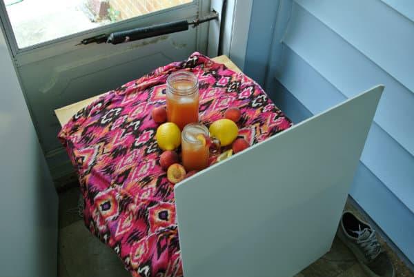 Peach Lemonade Setup