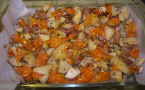 Roasted Potatoes with Cherry Tomatoes