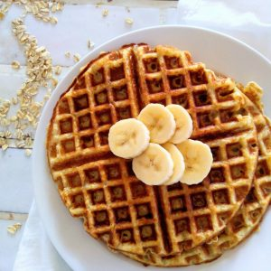 Alton Brown Oat Waffles
