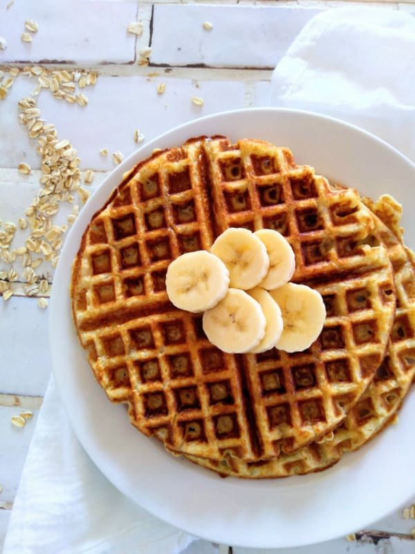 Alton Brown Oat Waffles