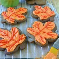 Ginger Leaf Cookies Pumpkin Buttercream