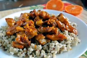 Clementine Glazed Boneless Skinless Chicken Thighs