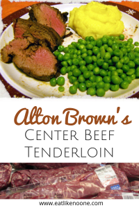Alton Brown's Center Cut Beef Tenderloin