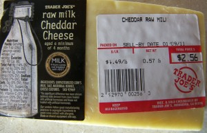 Trader Joe Raw Milk Cheddar