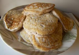 Bobby Flay's Blue Cornmeal Pancakes