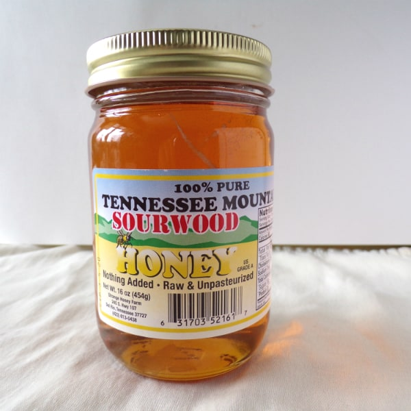 Tennessee Mountain Sourwood Varietal Honey