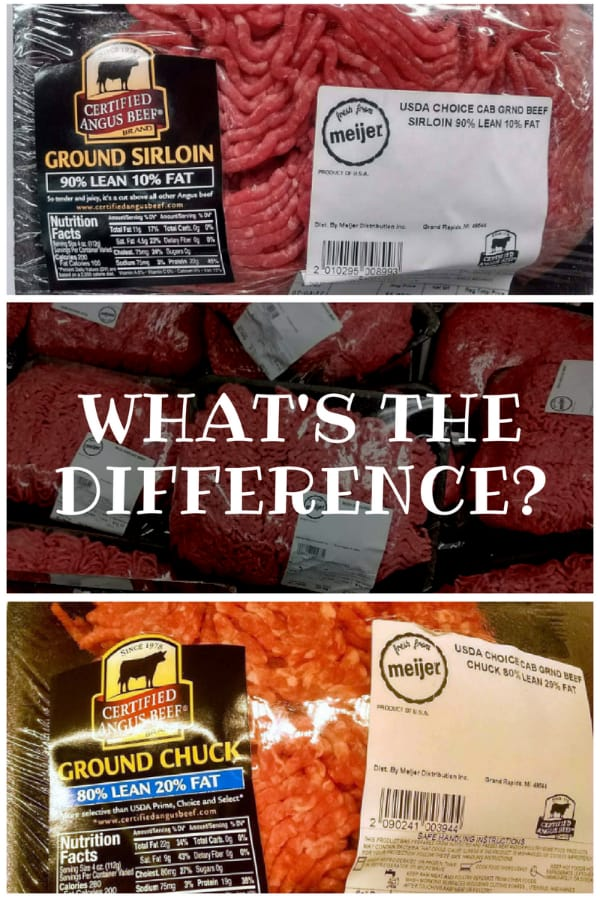 difference between types of ground beef