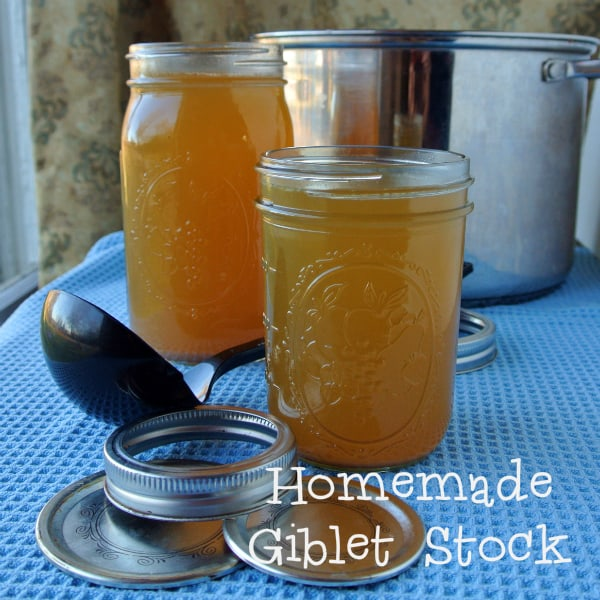 Homemade Giblet Stock