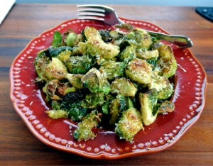 Roasted Brussels Sprouts with Panko Breadcrumbs