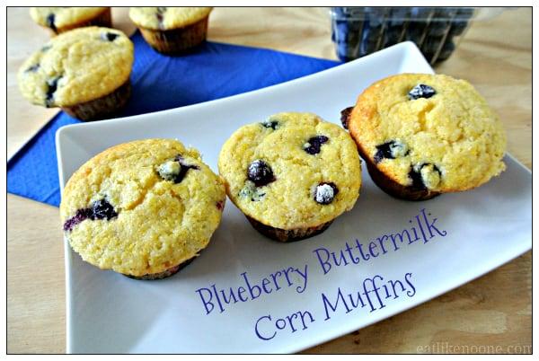 Giada Blueberry Corn Muffins