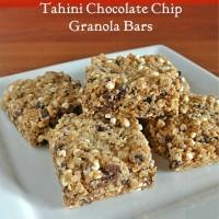 Tahini Granola Bars