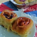 Red White Blue Sweet Jam Rolls