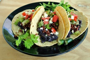 Black Bean & Red Rice Taco
