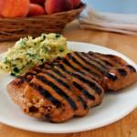 Peach Hatch Glazed Pork