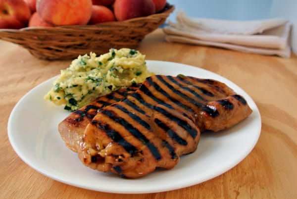 Peach Hatch Glazed Pork