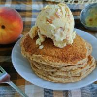 Roasted Peach Buttermilk Ice Cream