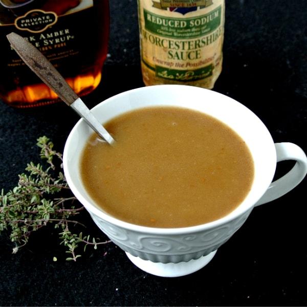 Maple-Worcestershire Gravy