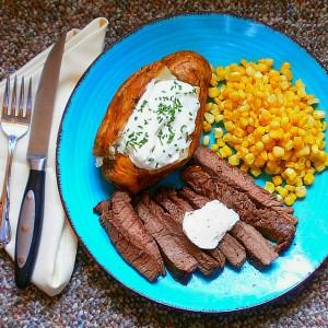 Alton Brown's Broiled Sirloin Steak Recipe