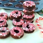 Mini Chocolate Peppermint Donuts