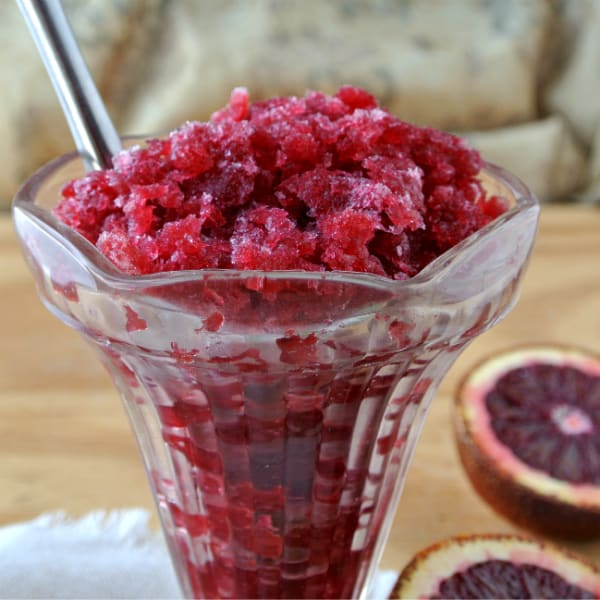 Blood Orange Granita