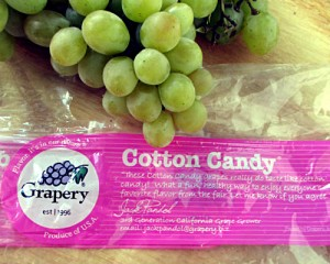 Cotton Candy Grapes with Bag