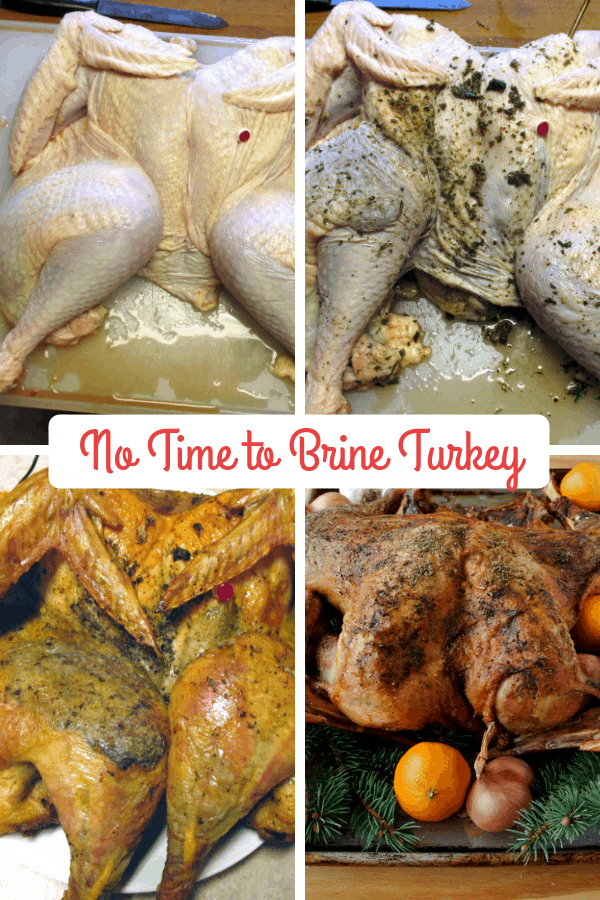 No Time to Brine Turkey Technique