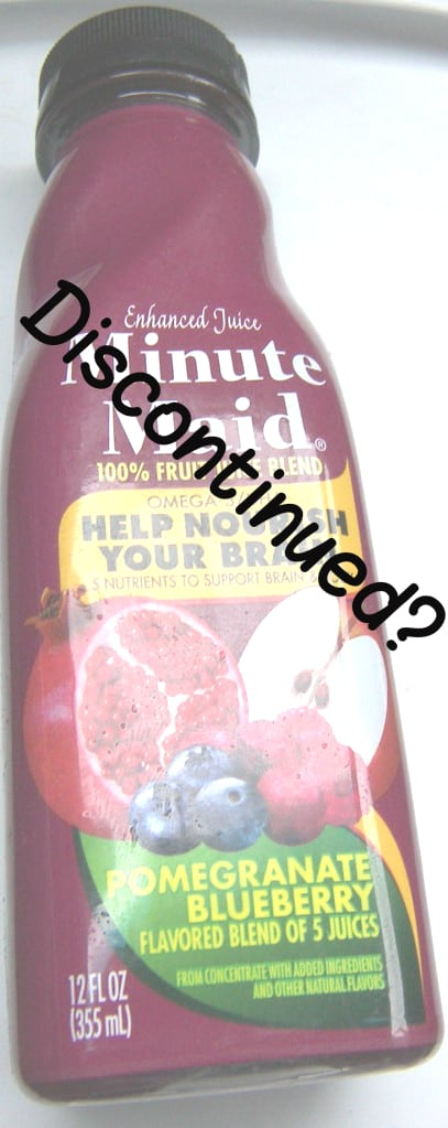 Minute-Maid-Pomegranate-Blueberry Discontinued