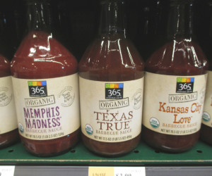 365 Organic Barbeque Sauces