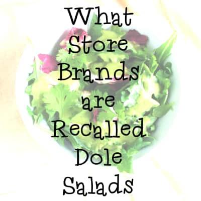Store Brand Recalled Salads ALDI Kroger Walmart