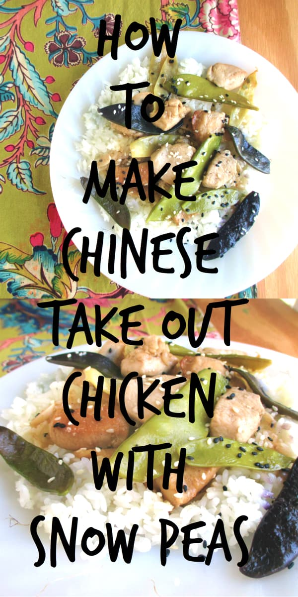 How to make Chinese take out Chicken with Snow Peas