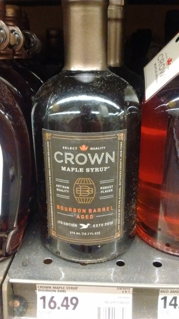 Crown Bourbon Barrel Aged Maple Syrup