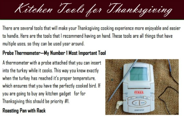 A handy guide to what tools are the most useful on Thanksgiving day.
