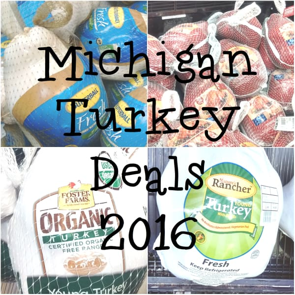 Michigan turkey sales deals 2016 fresh frozen