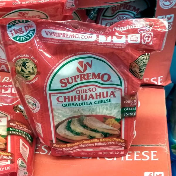 No doubt the best cheese for quesadilas.