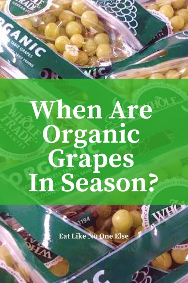 When are Organic Grapes in Season? When does Organic Grape Season begin and end
