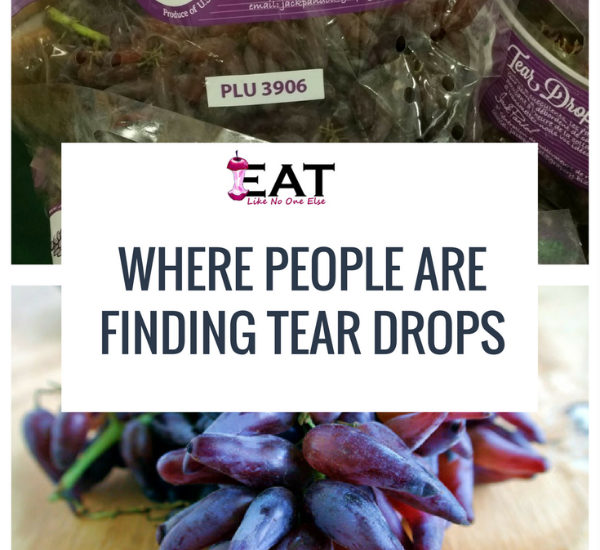 Where People Find Tear Drops Grapes