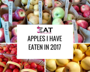 Apples I Have Eaten in 2017