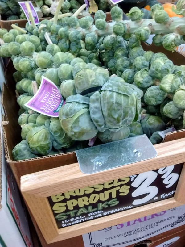 Trader Joe's Brussels Sprouts Stalks