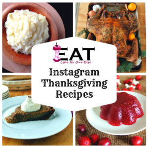 Thanksgiving recipes from my Instagram account