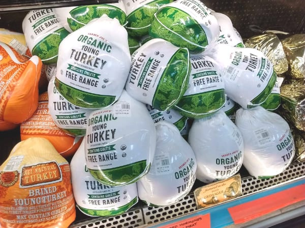 Trader Joe's Organic Free Range Turkeys