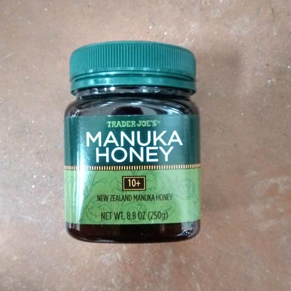 Bottle of Trader Joe's Manuka Honey 10+