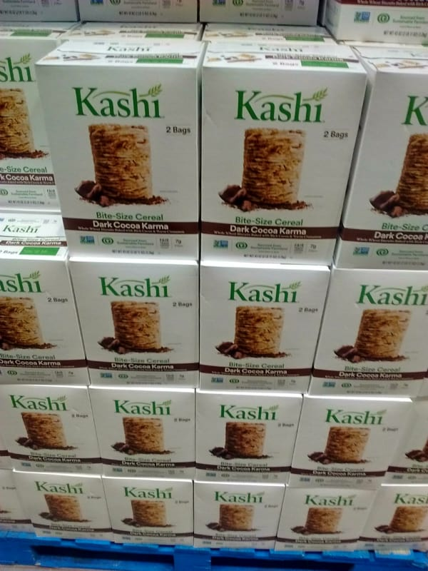 Boxes of Kashi Dark Cocoa Karma cereal